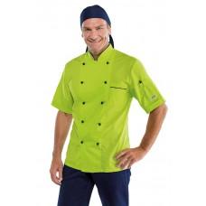 Giacca Cuoco Profilata Cod. 057026M - Blu+Verde