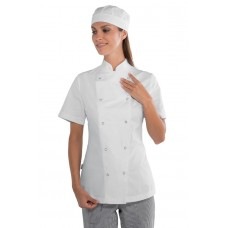 Giacca Lady Chef Bottoni A Pressione Cod. 057520M - Bianco