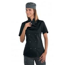Giacca Lady Chef Bottoni A Pressione Cod. 057541M - Nero