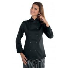 Giacca Lady Chef Bottoni A Pressione Cod. 057541 - Nero