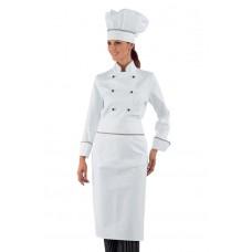 Giacca Lady Chef Bottoni Antipanico Cod. 057510 - Bianco+Italy