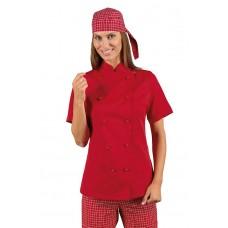 Giacca Lady Chef Bottoni Antipanico Cod. 057507M - Rosso
