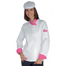 Giacca Lady Snaps Cod. 057786 - Bianco+Fuxia