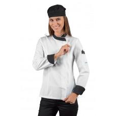 Giacca Lady Zip Cod. 057711Z - Bianco+Nero